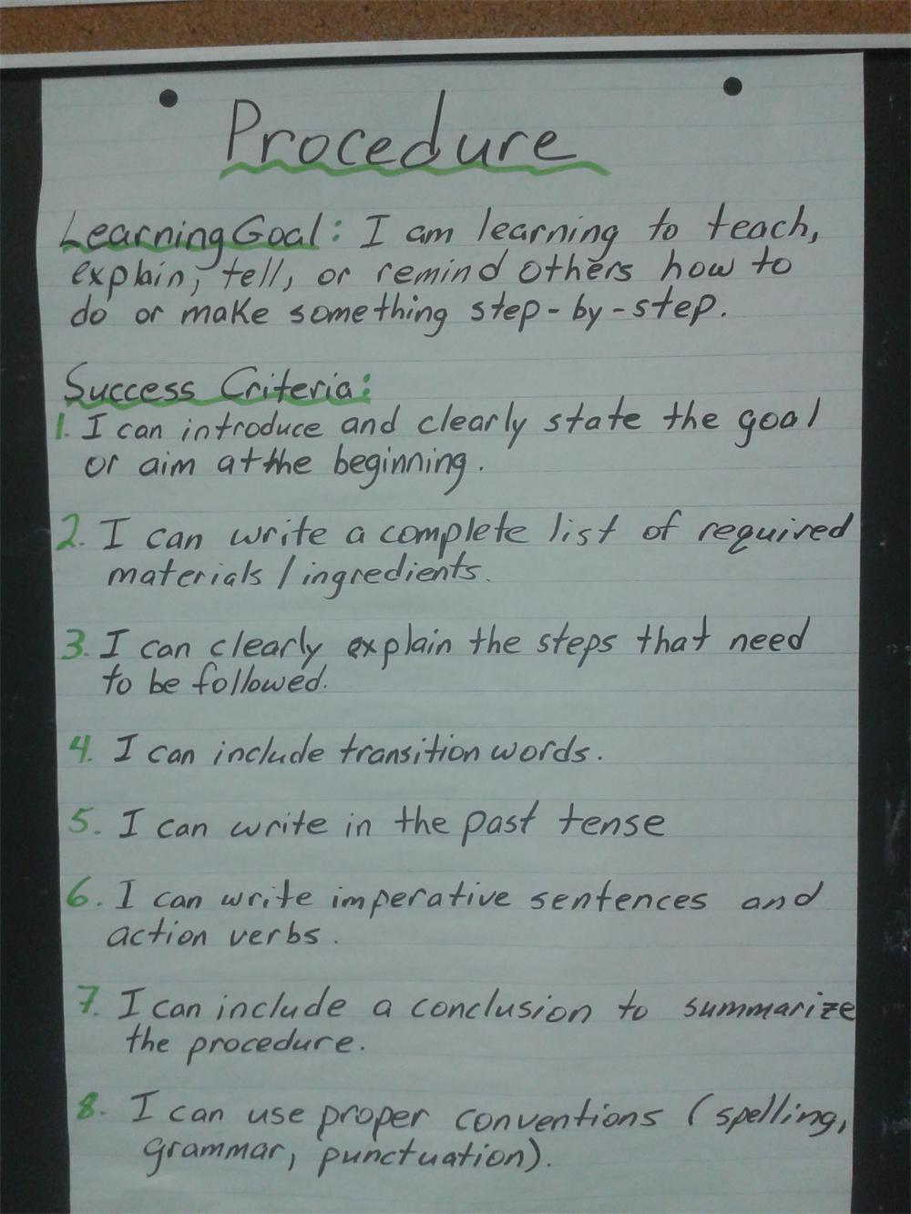 essay success criteria